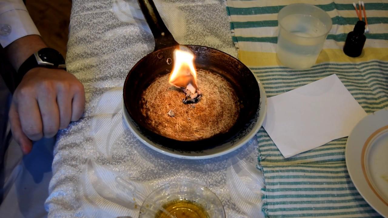 Спичками или огнем
